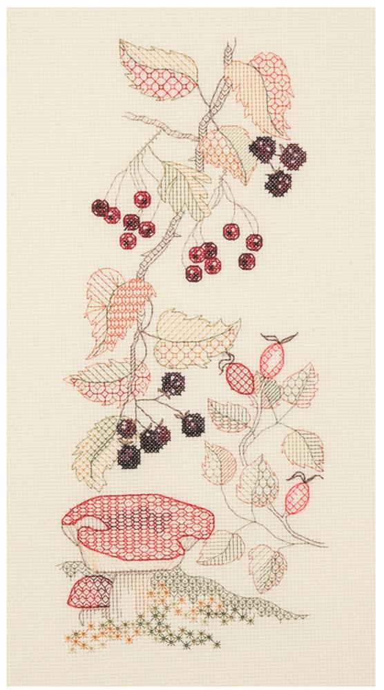 Autumn Seasons Panel - Blackwork