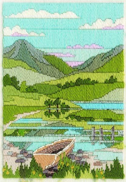 Mountain Spring - Wool Long Stitch
