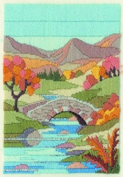Mountain Autumn - Wool Long Stitch