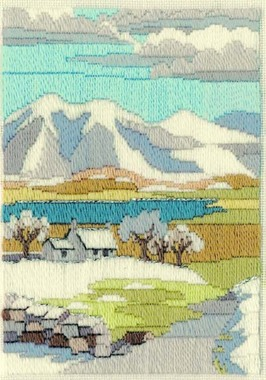 Mountain Winter - Wool Long Stitch