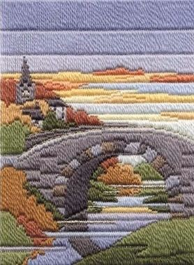 Autumn Evening - Wool Long Stitch