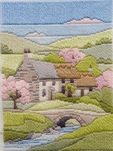 Spring Cottage - Wool Long Stitch