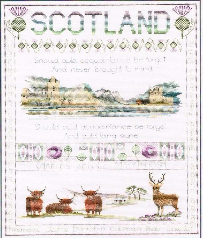 Scotland Cross Stitch Sampler