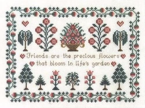 Friends Cross Stitch Sampler