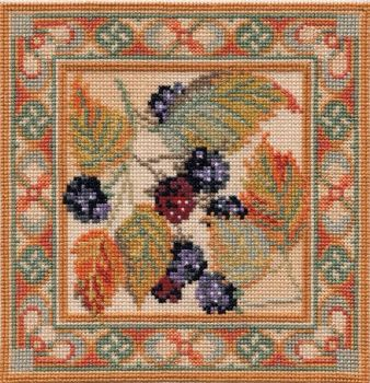 Blackberry - Counted Canvas Work - Petit Point & Long Stitch