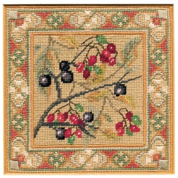 Blackthorn & Bittersweet - Counted Canvas Work - Petit Point & Long Stitch