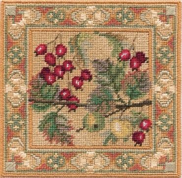 Hawthorn & Crab Apple - Counted Canvas Work - Petit Point & Long Stitch
