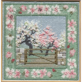 Spring Orchard - Counted Canvas Work - Petit Point & Long Stitch