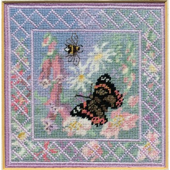 Summer Meadow - Counted Canvas Work - Petit Point & Long Stitch