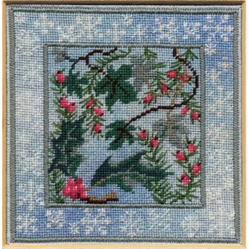 Winter Evergreens - Counted Canvas Work - Petit Point & Long Stitch