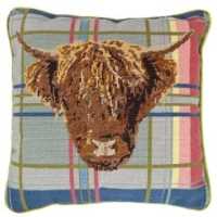 Highland Cow - Tartan Tapestry Kit