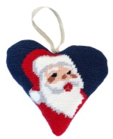 Christmas Santa Heart Tapestry