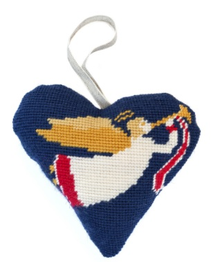 Christmas Angel Heart Tapestry (Buy 2 for £27)