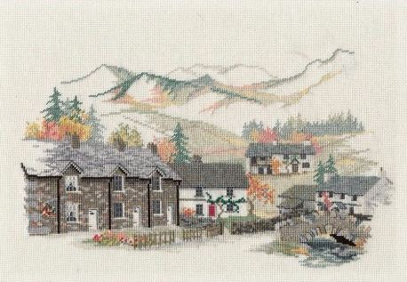 Cumbrian Village Cross Stitch