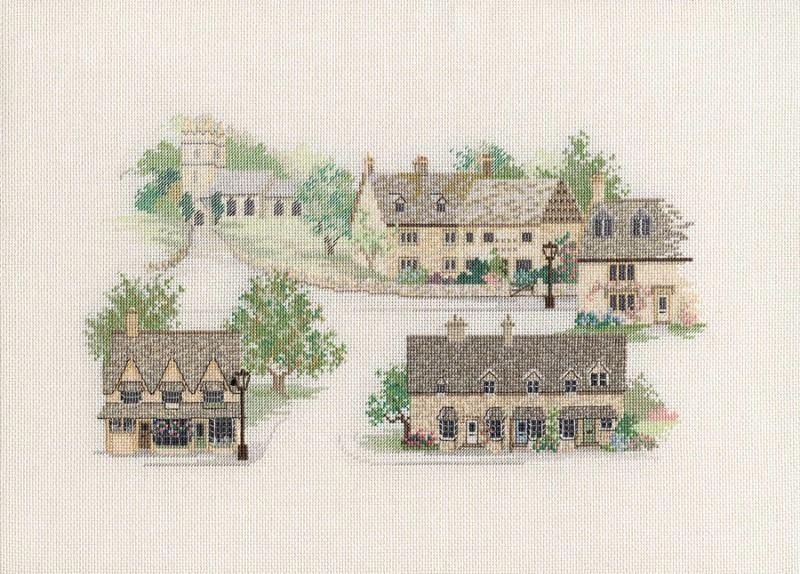 Cotswold Village Cross Stitch