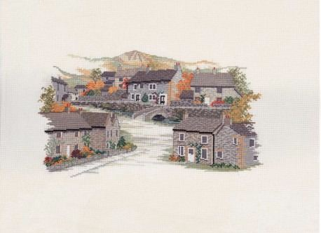 Derbyshire Village Cross Stitch
