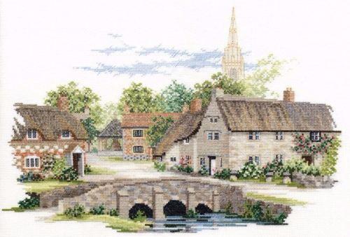 Wiltshire Village Cross Stitch
