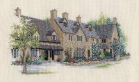 Rose Tree Cottages Cross Stitch
