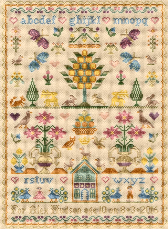 The Birthday Sampler - Moira Blackburn Cross Stitch