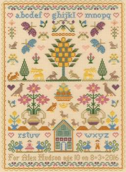 The Birthday Sampler - Moira Blackburn Cross Stitch