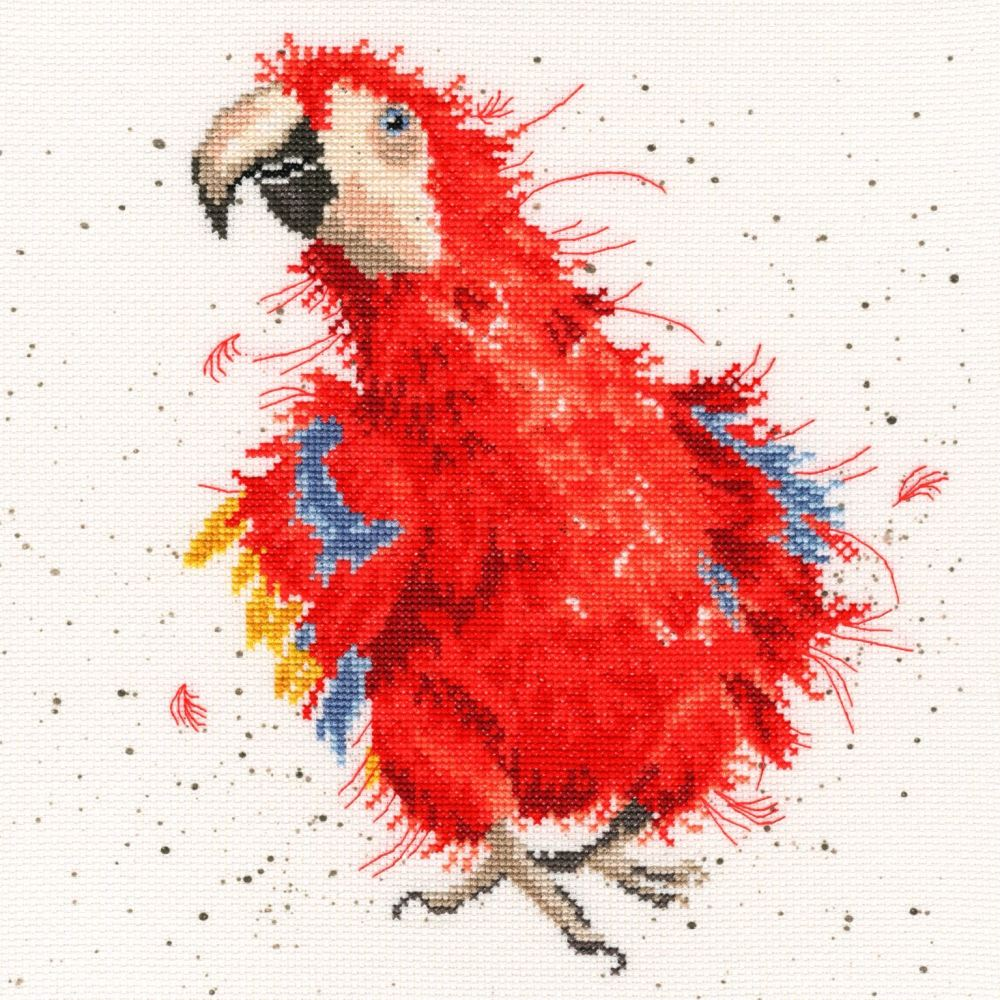 Parrot on Parade - Hannah Dale Bothy Threads Cross Stitch Kit