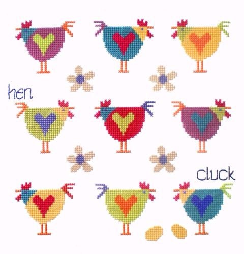 Chicken Sampler - Cross Stitch Kit - Stitching Shed