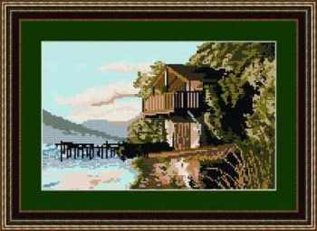 Ullswater Boathouse - Lake District - Brigantia Tapestry