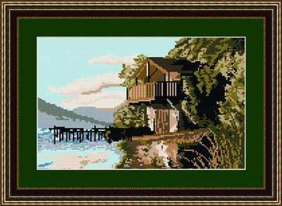 Ullswater Boathouse - Lake District - Brigantia Tapestry Kit