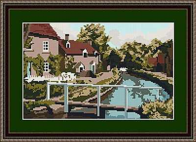 Lower Slaughter - Brigantia Needlework Tapestry Kit