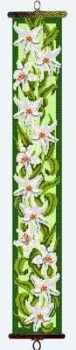 Lilies Floral Bellpull (Printed Cross Stitch Kit)