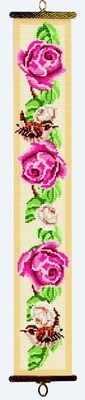 Roses and Wren Bellpull (Printed Cross Stitch Kit)