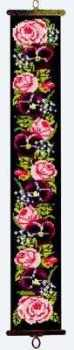 Victorian Roses Bellpull (Printed Cross Stitch Kit)