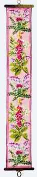 Wild Flowers Bellpull (Printed Cross Stitch Kit)