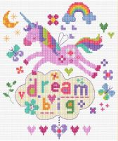 Dream Big - Unicorn Cross Stitch