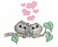 Hearts and Feathers - Ollie Owl Cross Stitch