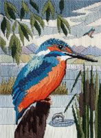 Kingfisher - Wool Long Stitch