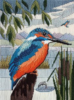 Kingfisher - Wool Long Stitch