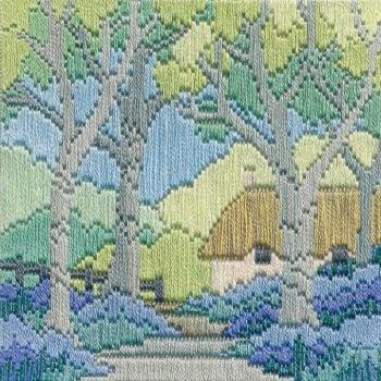Bluebell Cottage - Silken Long Stitch