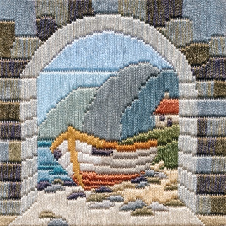 Boat Thro' Archway - Silken Long Stitch