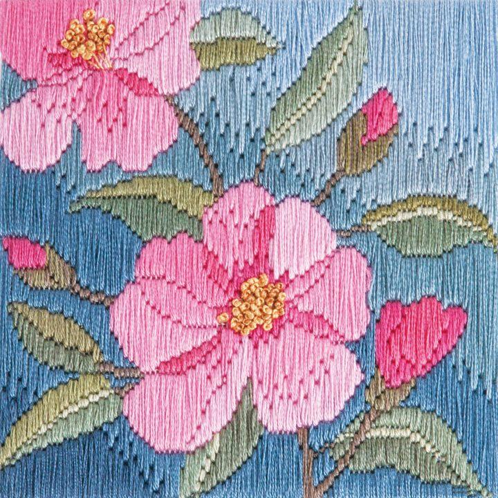 Camelias - Silken Long Stitch