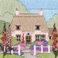 Hollyhock Cottage - Silken Long Stitch