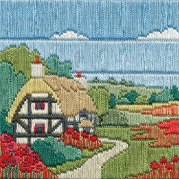 Poppy Cottage - Silken Long Stitch
