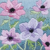 Purple Anemones - Silken Long Stitch