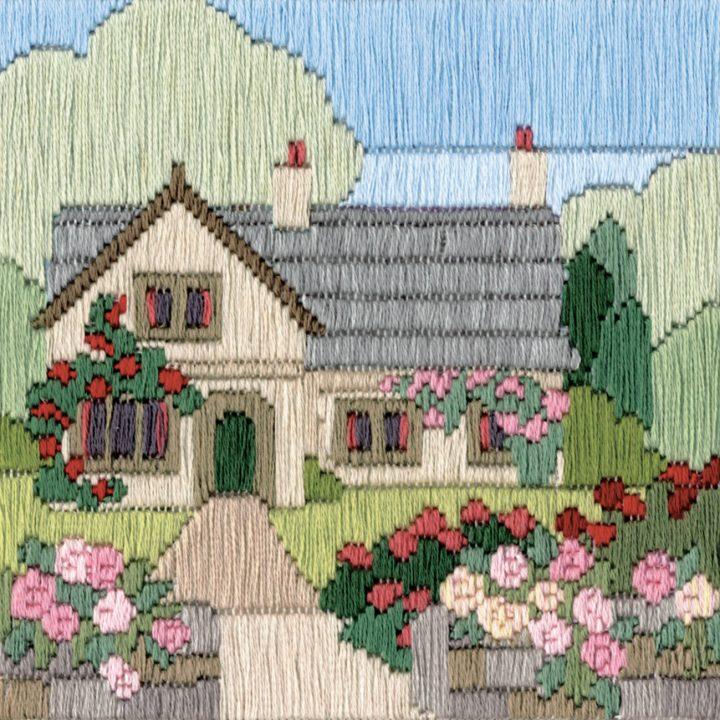 Rambling Rose Cottage - Silken Long Stitch