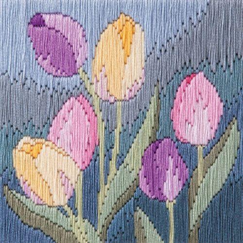 Tulips - Silken Long Stitch
