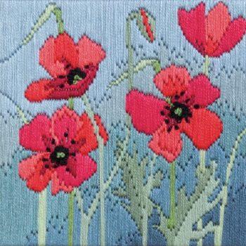 Wild Poppies - Silken Long Stitch