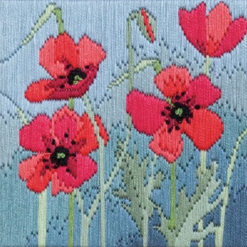 Wild Poppies - Silken Long Stitch