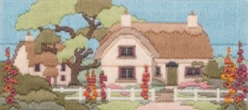 Hollyhock Lane - Wool Long Stitch