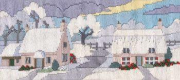 Snowy Lane - Wool Long Stitch