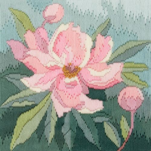Peony - Wool Long Stitch Kit